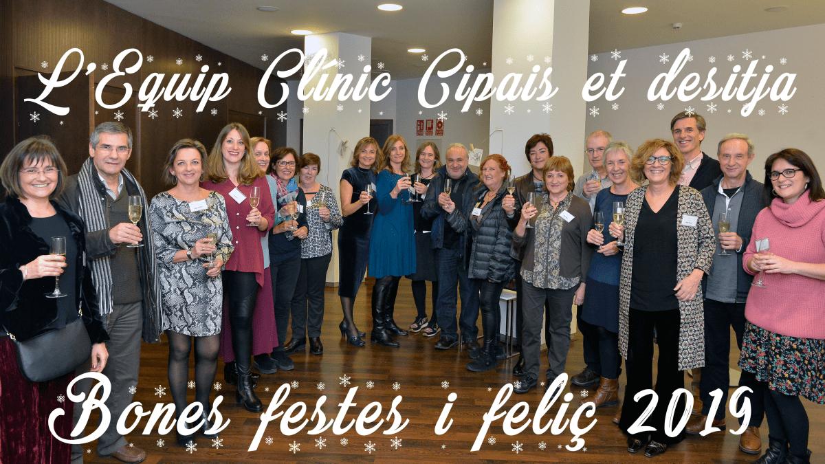 Bones festes i feliç 2019 de part de l'Equip Clínic Cipais