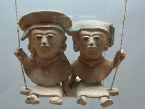 Figures prehisàniques de fang, 250-900 d. C. Museo  d'Antropologia de Xalapa, Mèxic.