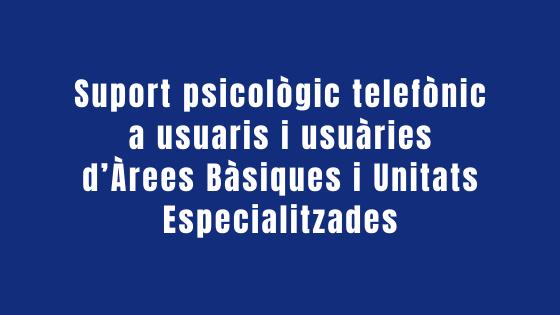 suport telefònic psicològic